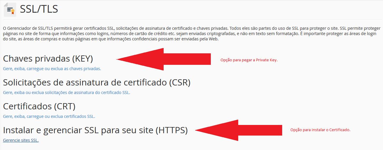 Key e HTTPS