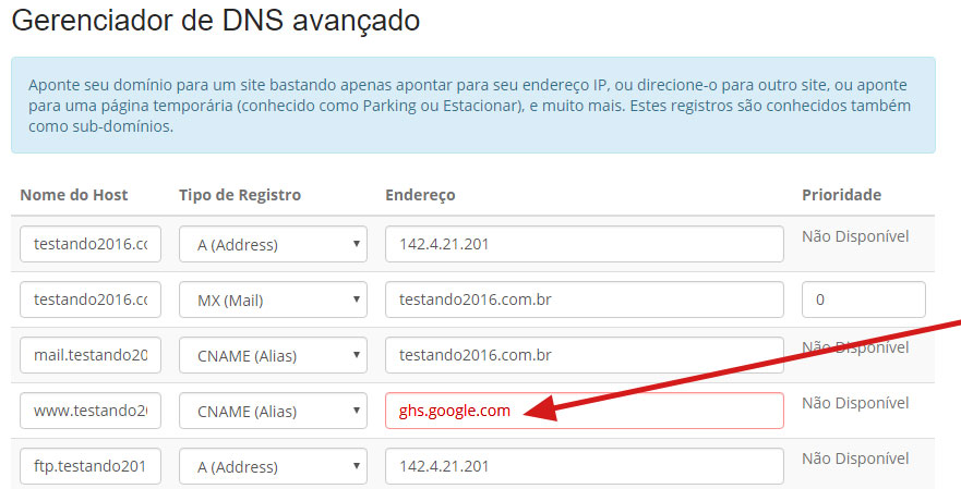 dominio .com.br blogger como