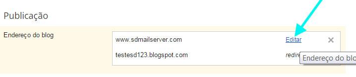 blogger sem www erro